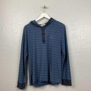 Penguin Original Size M Blue Stripe Waffle Knit